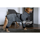 Hundebademantel mit Beinen Dryup Body Zip.Fit XL (70cm) grau