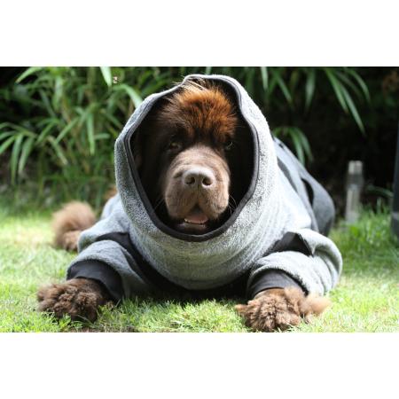 Hundebademantel mit Beinen Dryup Body Zip.Fit BIG 84 cm