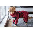 Hundebademantel mit Beinen Dryup Body Zip.Fit bordeaux