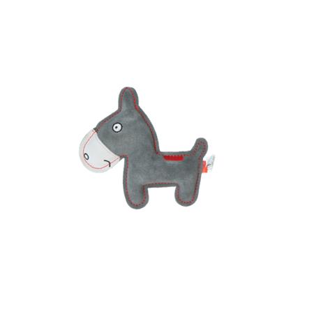 Rindsleder Doodle Esel grau