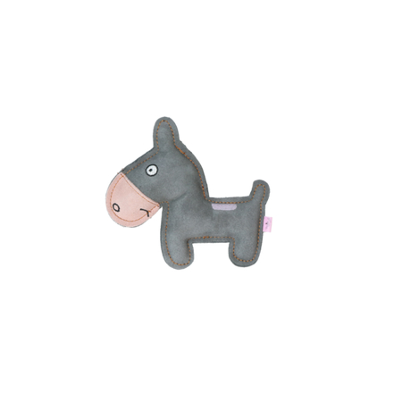 Rindsleder Doodle Esel rosa