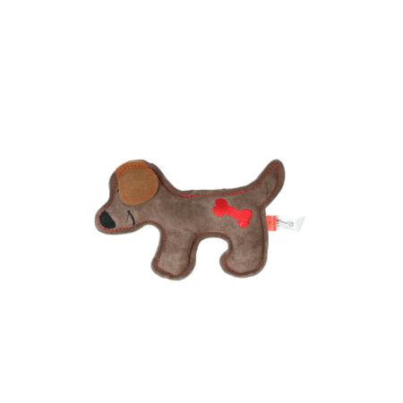Rindsleder Doodle Hund braun