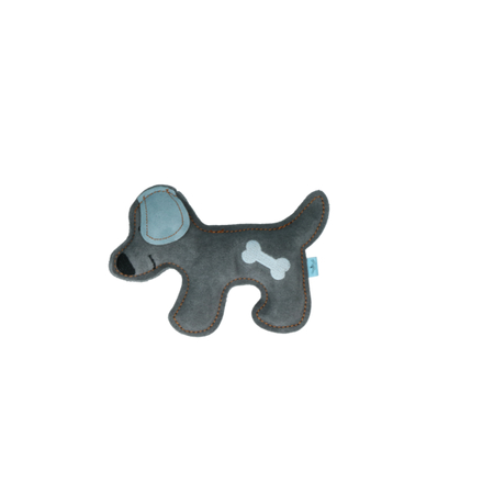 Rindsleder Doodle Hund blau