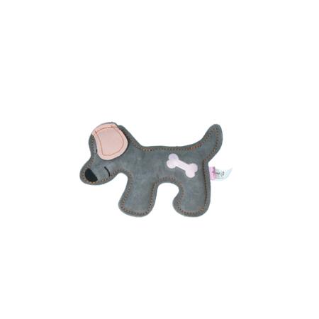 Rindsleder Doodle Hund rosa