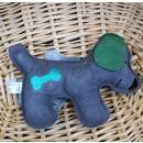 Rindsleder Doodle Hund grün
