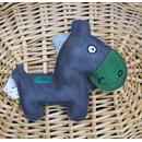 Rindsleder Doodle Esel grün
