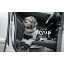 Hundebademantel mit Beinen Dryup Body Zip.Fit MINI grau