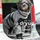 Hundebademantel mit Beinen Dryup Body Zip.Fit MINI grau 45cm