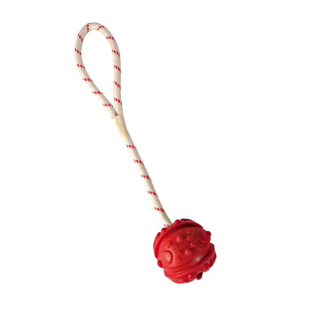 Ball am Seil, Naturgummi 4,5cm/35cm