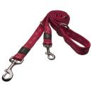Rogz Hundeleine Alpinist  M 180cm x 15 mm Rot