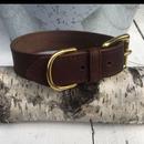 Fettleder - Halsband | Fettlederhalsband | braun  40 cm