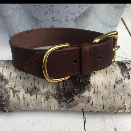 Fettleder - Halsband | Fettlederhalsband | braun