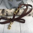 Fettleder - Hundeleine braun 200cm/20mm