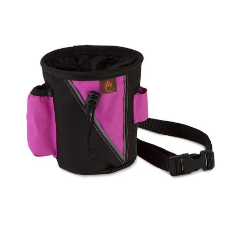Firedog Leckerlitasche Treat bag schwarz-pink groß