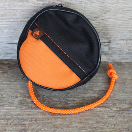Futterdummy Snack Disc schwarz/orange