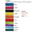 Wasserarbeitsgeschirr Schlüsselanhänger viele Farben
