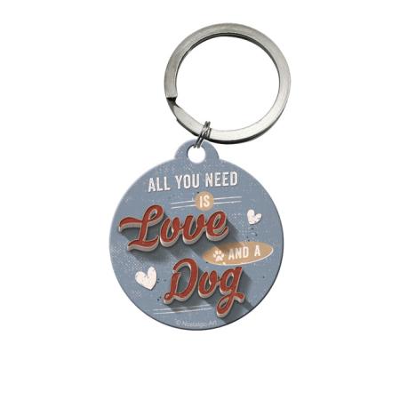 Schlüsselanhänger PfotenSchild Love Dog