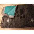 Original ®  Drybed braun meliert STERNE  Pfoten, rutschfest 120 x 75cm