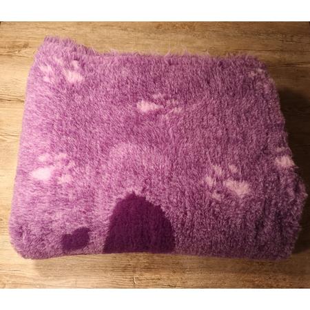 Original ®  Drybed lila meliert Pfoten, rutschfest 150 x 100cm