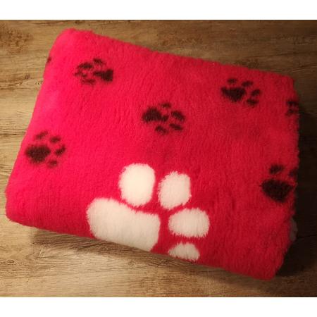 Original ®  Drybed pink Pfoten, rutschfest 150 x 100cm