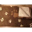 Original ®  Drybed braun Pfoten, rutschfest 150 x 100cm