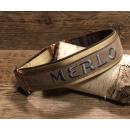 Hundehalsband FLY S-Gurtband/Softshell bestickt m....