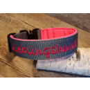 Hundehalsband COBRA Schnalle - Softshell gepolstert - Bestickung